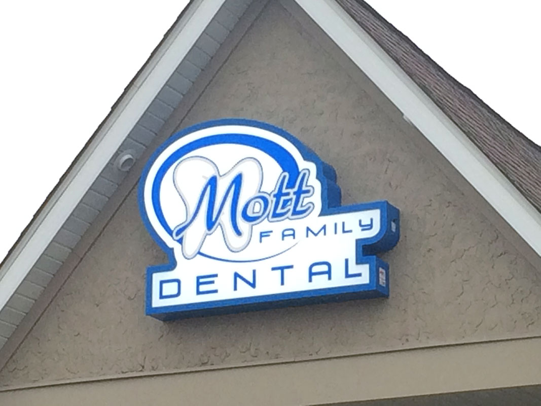 Mott Family Dental A 1 Sign